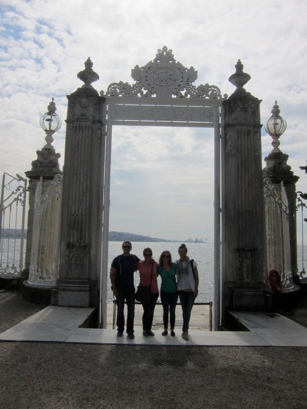 team at palace gate